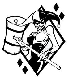 Harley Quinn Vinyl Decal FREE SHIPPING (many colors available)