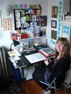 Allison Cole's work space.