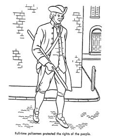 early american trades coloring page
