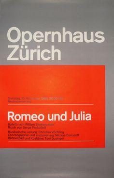 'Romeo und Julia' Opernhaus Zürich, by Josef Müller-Brockmann, 1966…