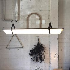 We offer a standard long fixture with finish options, but when clients want something special, we're always stoked ! Modern Lighting, Lighting Design, Custom Furniture, Interior Ideas, Home Furnishings, Modern Design, Handmade, Inspiration, Hand Made