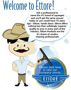 Often imitated, never duplicated. Ettore Products Company has set the standards for performance in cleaning since Window Cleaning Equipment, Window Cleaning Tools, Commercial Window Cleaning, Professional Window Cleaning, Washing Windows, Window Cleaner, Board, Products, Gadget