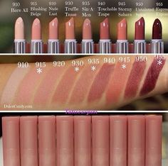 The maybelline color sensational buff collection swatches.i have truffle tease and love it !If you're looking for a natural, nude look for your wedding day, these Maybelline Color Sensational lipsticks from the Buff Collection might do the trick! Makeup Swatches, Drugstore Makeup, Best Drugstore Lipstick, Mac Lipstick Swatches, Color Swatches, Makeup Brands, Maybelline Lipstick, Lipsticks, Nude Lipstick