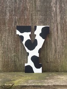 Cow print letters, cow wall art, cow decor, animal print, farm animal print, farm animal, nursery animal decor, cowgirl decor, cowboy decor by luxuryletters on Etsy https://www.etsy.com/listing/535720187/cow-print-letters-cow-wall-art-cow-decor