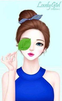 wallpaper, background and lovely girl image on We Heart It Cute Cartoon Girl, Anime Girl Cute, Anime Art Girl, Beautiful Girl Drawing, Cute Girl Drawing, Lovely Girl Image, Girls Image, Girly M, Girly Drawings