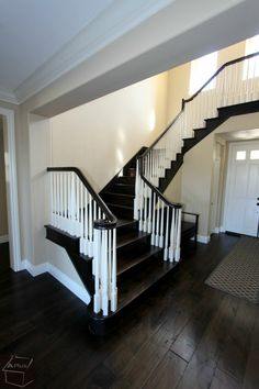 custom stairs with Wood Floor in the whole house in San Clemente OC