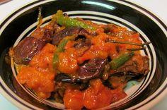 Recipe Tamatar Wangan | Tomato Eggplant Recipe from BonGong.com | Kashmiri Food- I will leave out the oil