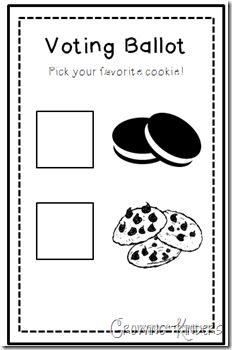 """The Great Cookie Election"" Activity-Vv week Kindergarten Reading, Kindergarten Classroom, Classroom Activities, Classroom Ideas, Preschool Social Studies, Preschool Activities, Election Votes, Presidential Election, First Grade Classroom"