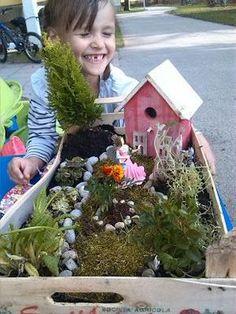 Unser Fairy Garden! So einfach gemacht! (mehr Ideen für Kinder im Bastelblog)