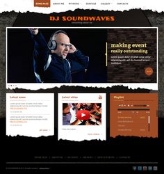 Dj Sound Waves Music Twitter Bootstrap HTML Template by Dynamic Template