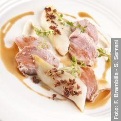 Cartoccio di riso e filetto di maiale. Chef EnricoBartolini  http://www.identitagolose.it/sito/it/ricette.php?id_cat=12_art=1488_portata=22_chef=_chefid=_congresso=_key=_pg=1