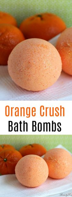 DIY Orange Bath Bombs recipe ... uplifting therapeutic bath bombs. #bathbombs #orange #diy #crafts