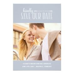 Rustic Charm | Photo Save the Date 5x7 Paper Invitation Card