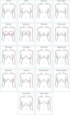 """How do yours hang?   It matters!  How to fit a bra properly. Photo by """"Examples of How Breasts Come in Different Shapes"""" by Invest In Your Chest."""