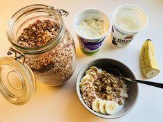 Cottage Cheese, Granola, Acai Bowl, Oatmeal, Breakfast, Food, Acai Berry Bowl, The Oatmeal, Morning Coffee