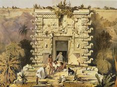 Drawing From the Past Maya Antiquity Through the Eyes of Frederick Catherwood : Gateway of the Great Teocallis, Uxmal