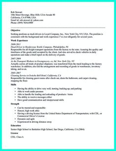 Resume Truck Driver  Bus Driver Resume Sample Resume Writing