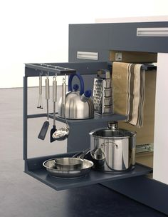Small Modular Kitchen for Very Small Spaces | DigsDigs