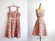 vintage 1970s dress // floral a line sundress  by thegreedyseagull, $56.00