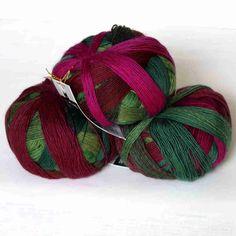 Teezeremonie Zauberball 100 von Schoppel - Heikes Handgewebtes. I'm doing s crocodile stitch shawl from this. Christmas 2016