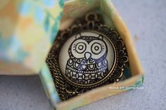 owl henna necklace, hand drawn from Eternal Girl