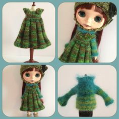 PDF knitting pattern  Cozy Comforts pleated pinafore and by polly, £4.50