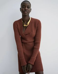 How to Achieve a Minimalist Wardrobe | Vogue Cashmere Turtleneck, Ribbed Sweater, Men Sweater, Camel Style, Valentino Dress, Burberry Trench Coat, Vogue Us, Vogue India, Kaia Gerber