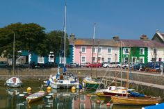 Lake Cottage - The pretty harbour in Aberaeron Seaside Village, Seaside Towns, Glamping Wales, Wales Holiday, Caravan Holiday, Holiday Park, Georgian Homes, Lake Cottage, Places Of Interest