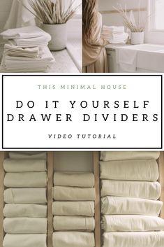 Diy Drawer Dividers, Diy Drawer Organizer, Kitchen Drawer Organization, Kitchen Drawers, Paper Organization, Drawer Organisers, Diy Drawers, Wood Drawers, Linen Towels