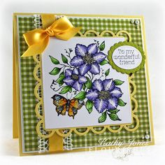 Inspired to Stamp: Butterflies and Blossoms