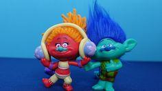 Trolls in English 2. Branch troll and Dj Suki troll. My new toys from th...