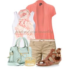 Warm Spring Pastels, created by casuality on Polyvore