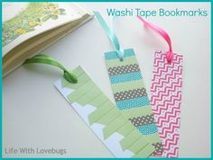 Washi Tape Bookmarks | For more washi projects and inspiration visit thewashiblog.com | #washi #washitape