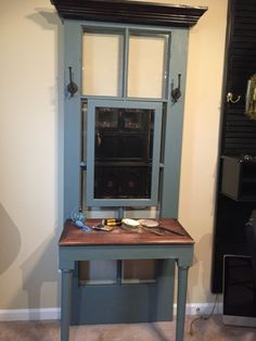 """""""Shut the Front Door"""" for an UpCycled Vanity."""