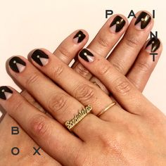 Power Point - Paintbox FW'14 Collection #paintboxmani #nailart
