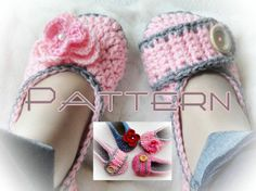 Sweet Dream Crochet Slippers Pattern by LovelyPatterns on Etsy, $5.50
