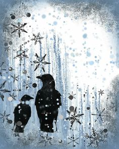 Winter Frolic 2 Greeting Card for Sale by Melissa Smith Winter Background, Mixed Media Artwork, Christmas Paintings, Pin Art, Antique Christmas, Winter Art, Christmas Illustration, Animal Paintings, Urban Art