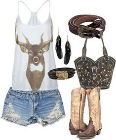 Deer clothes and fashion cute country outfits, country outfi Country Style Outfits, Country Wear, Cute N Country, Country Girl Style, Country Fashion, My Style, Country Life, Southern Outfits, Country Quotes