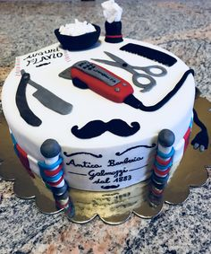 Discover recipes, home ideas, style inspiration and other ideas to try. Groomsman Cake, Barber Gifts, Graduation Party Planning, Birthday Cakes For Men, Diy Gifts For Boyfriend, Fashion Cakes, Specialty Cakes, Novelty Cakes, Celebration Cakes