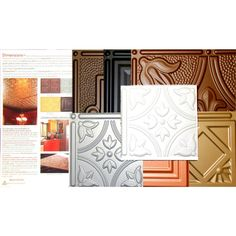 Dimensions Lay-in or Glue-Up Tin Ceiling Tile Evaluation Samples