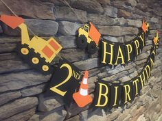 Construction Birthday Banner, Dump Truck Birthday Banner, Construction Party by MarinasCraftShop on Etsy https://www.etsy.com/listing/273280558/construction-birthday-banner-dump-truck