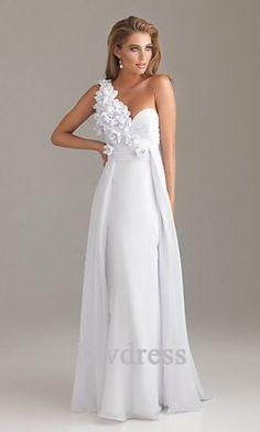 A-Line# Long Dress# White Dress