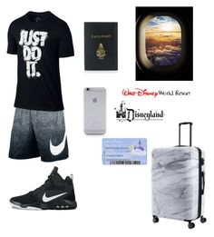 """""""Blake on his way to Florida/Disney"""" by arianaabner ❤ liked on Polyvore featuring NIKE, Mark Cross, CalPak, Native Union, Disney, men's fashion and menswear"""