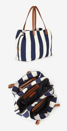 Oversized woven tote bag