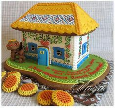 Ukrainian Recipes, Cookie Designs, Sugar Art, Cake Art, Gingerbread Cookies, Ukraine, 3d, Cooking, Desserts