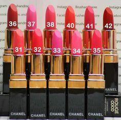 Chanel lipsticks  €  7,50