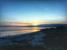 Beautiful sunset in ballyheigue