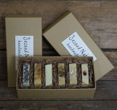 gift box of handmade guest soaps by second nature soaps | notonthehighstreet.com