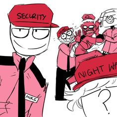 """pink uniform Wednesday<<< Mike is just like """"I'm fabolous bitch"""" and Jeremy is like """" No just No"""""""