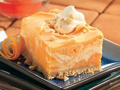Creamy Frozen Orange Squares (kinda like a Dreamsicle with more sophisticatedliness!)